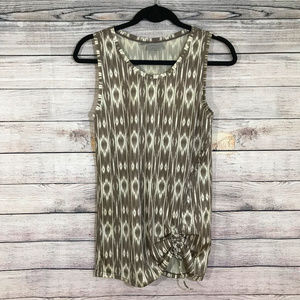 Brown Athleta Sleeveless Top with Side Gathering